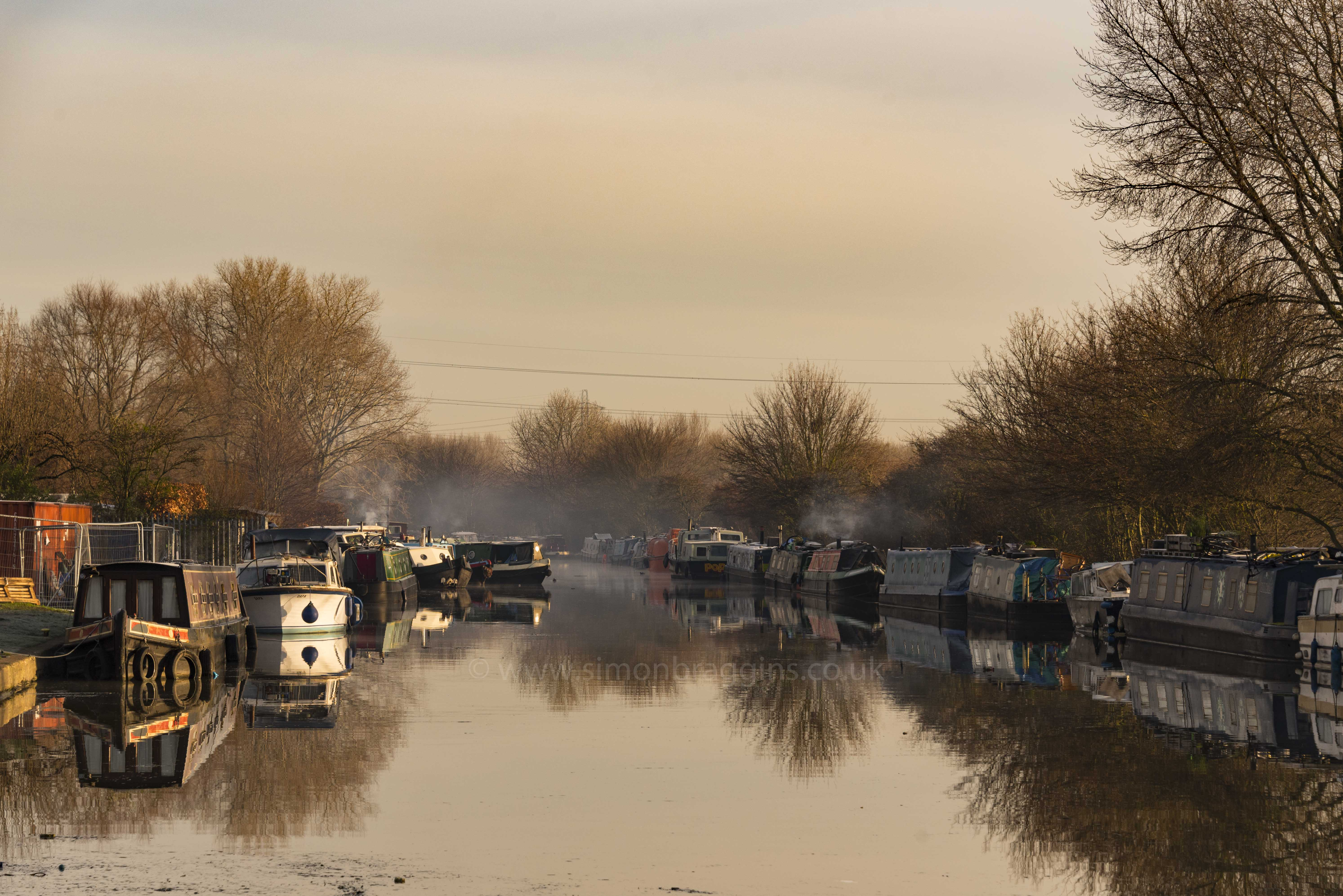 Frosty reflections: A calm and frosty morning at  Stonebridge Lock, January 2018