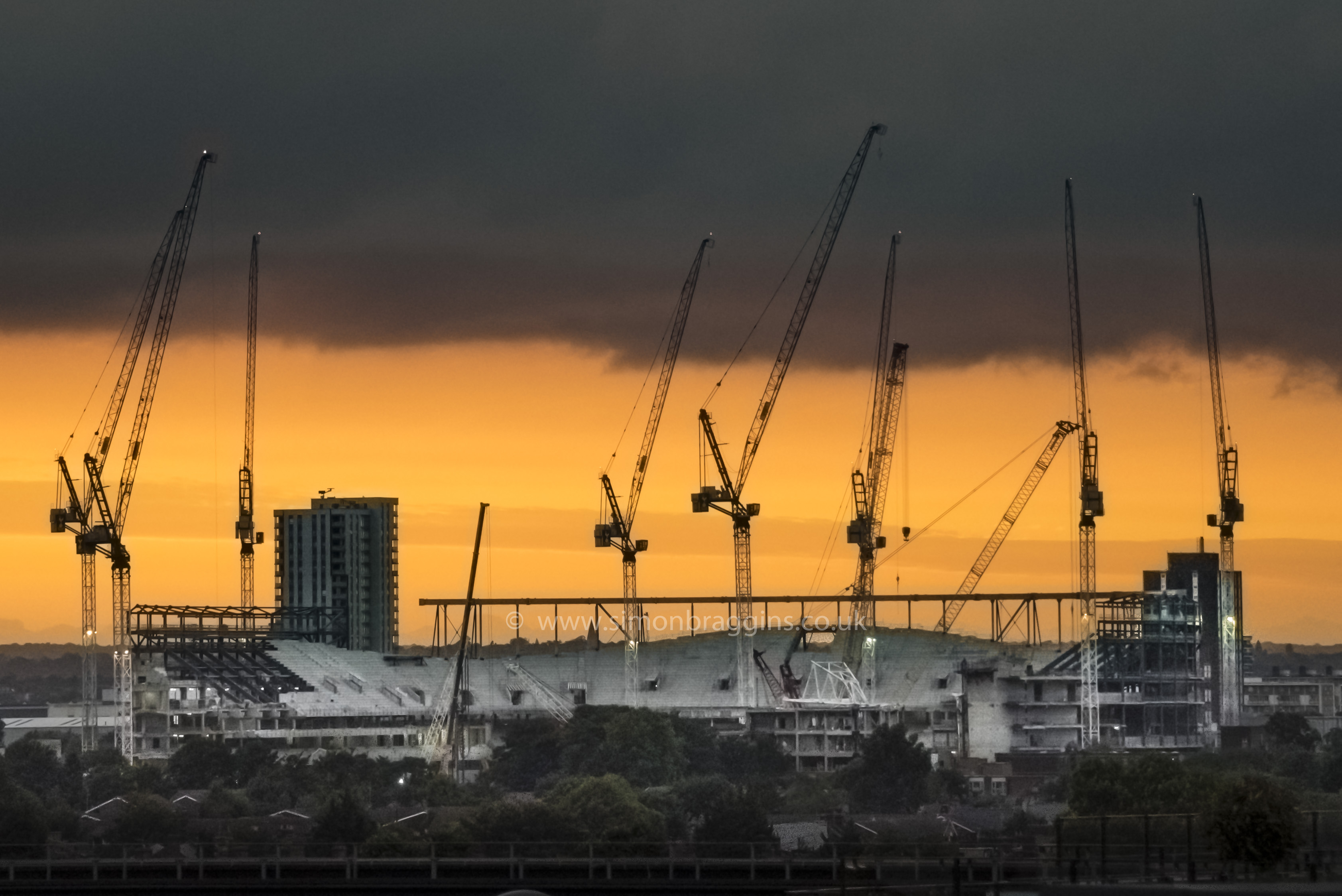 Tottenham Stadium under construction