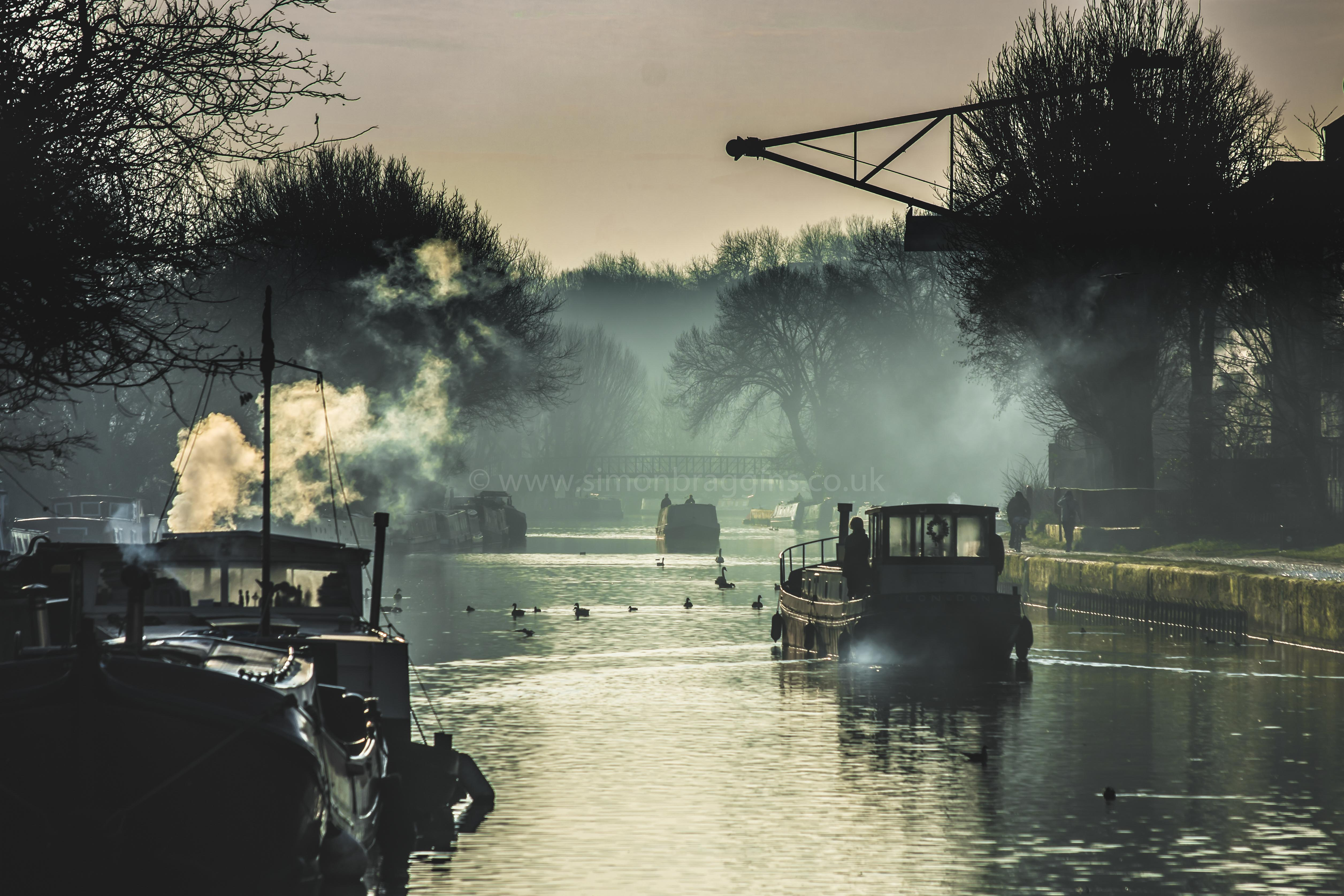 Smokey Lea: A reminder of the Lea's working past - Springfield Park, November 2017